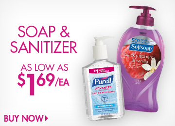Save on Soap & Sanitizers