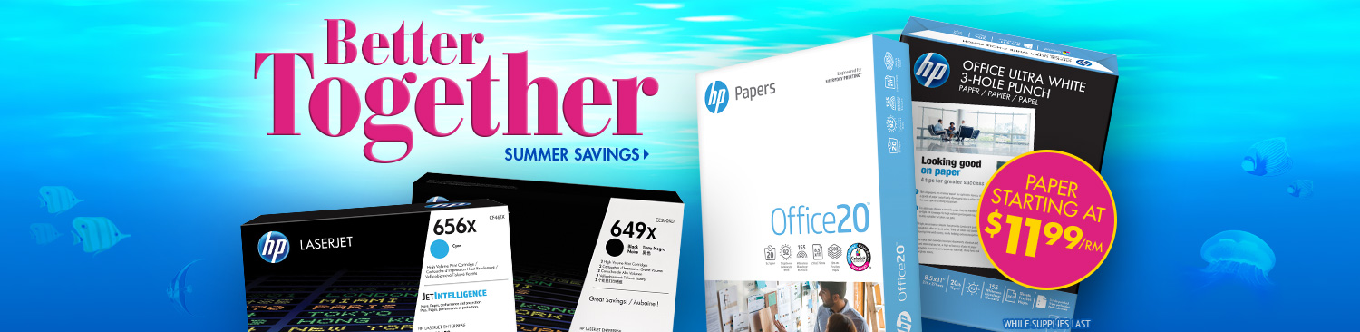 Save on HP Paper and Toner
