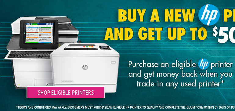Shop Eligible HP Trade and Save Printers