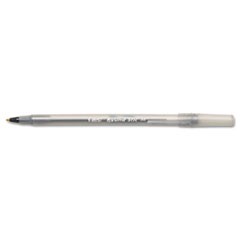 Round Stic Ballpoint Stick Pen, Black Ink, Medium, DZ