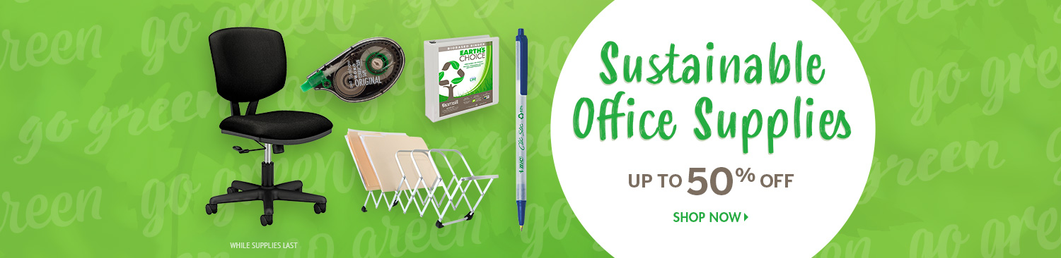 Save on Green Office Supplies