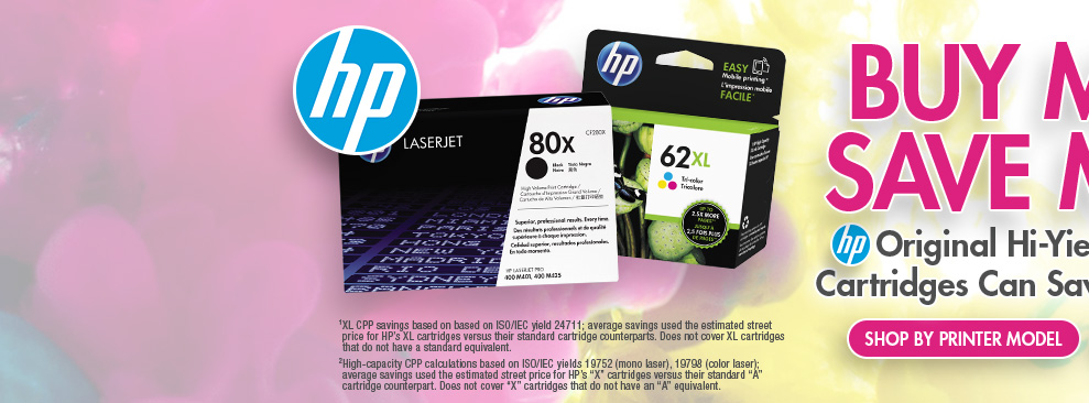 Shop HP Ink and Toner by Printer Model