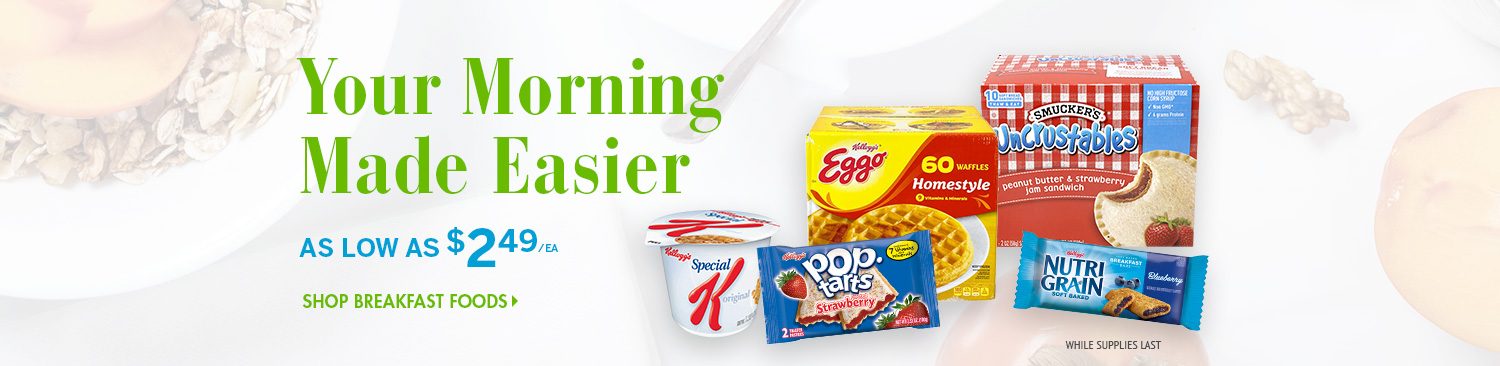Save on Breakfast Foods