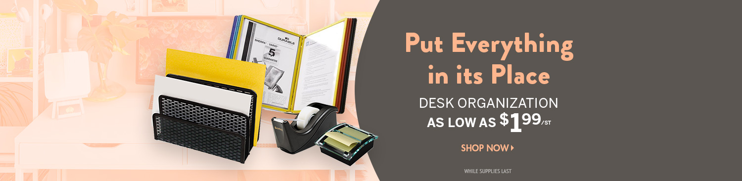 Save on Desk Organization