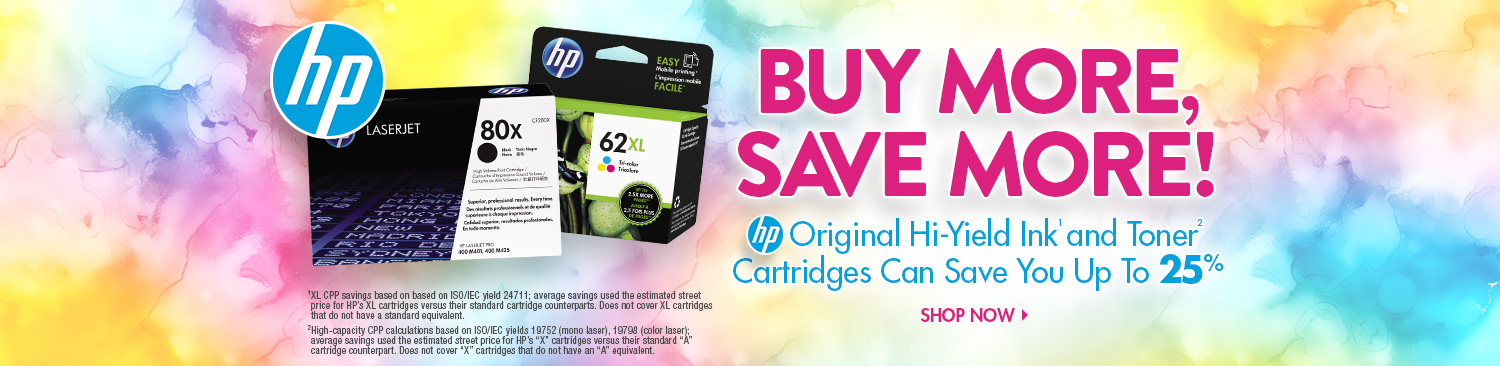 Save on HP Ink & Toner
