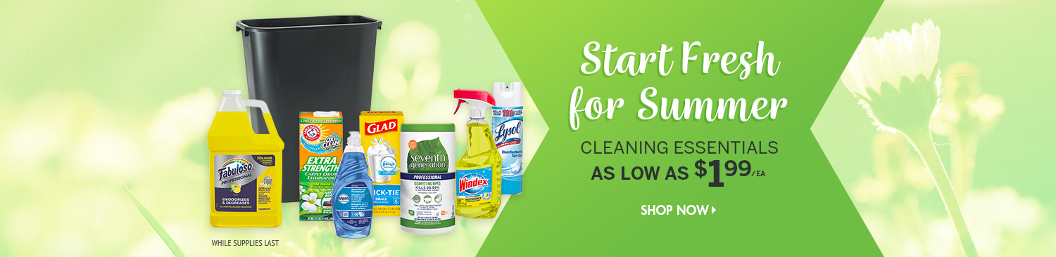 Save on Summer Cleaning Products