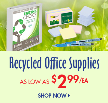Save on Recycled Office Supplies