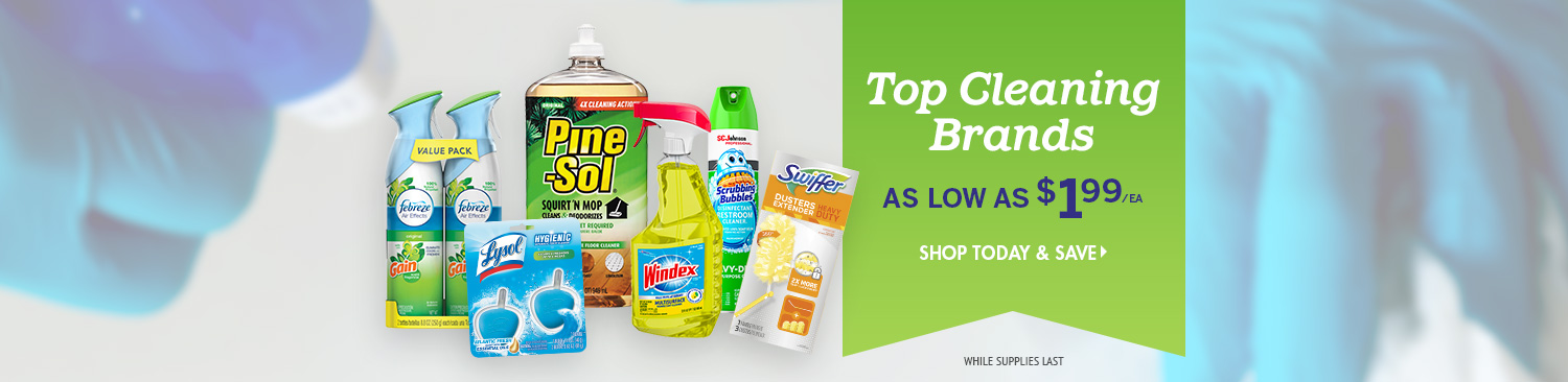 Save on Top Cleaning Brands
