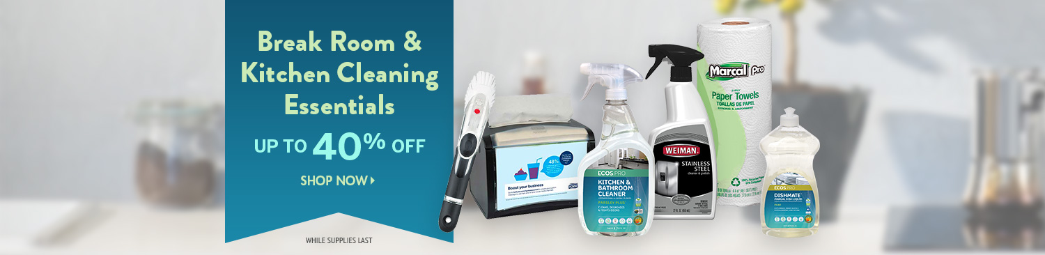 Save on Kitchen and Break Room Cleaning