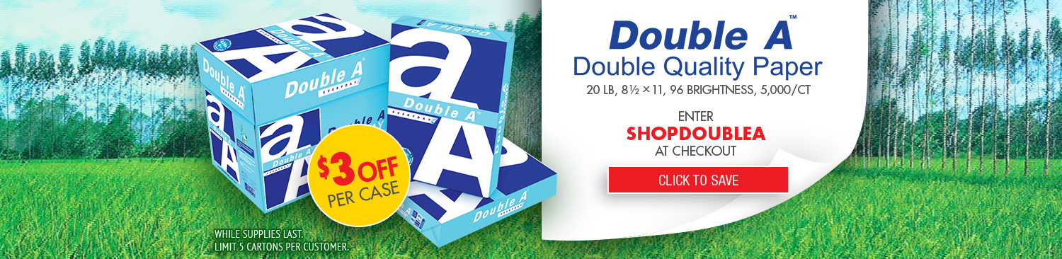 Save on DoubleA Paper