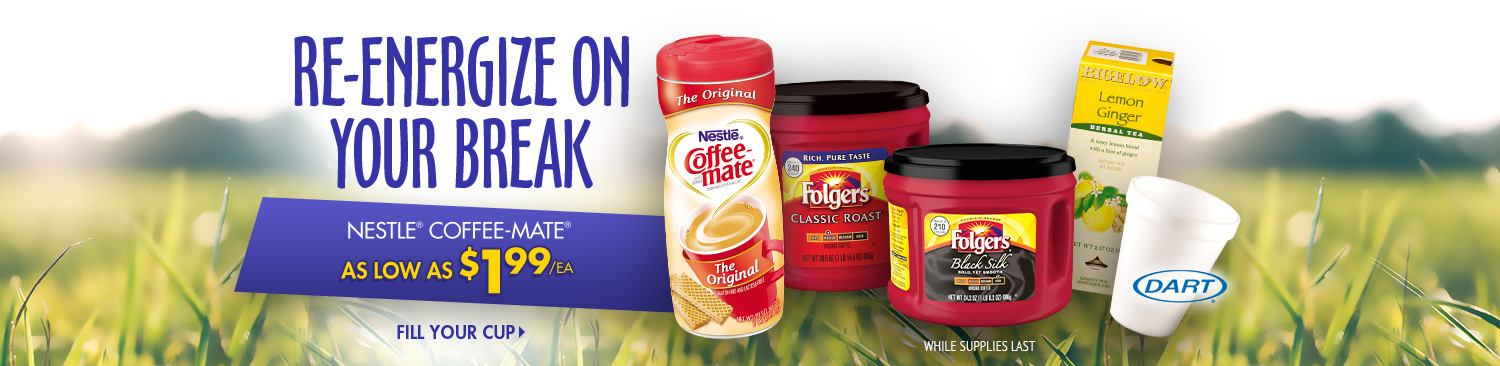 Save on Coffee and Tea Supplies