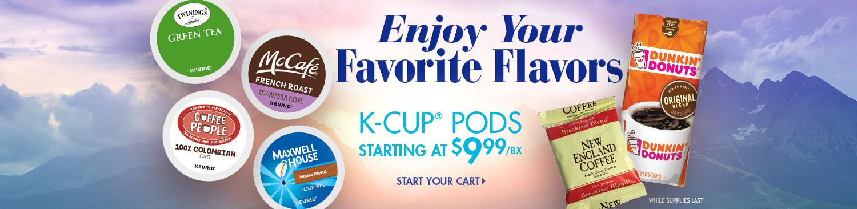 Save on Keurig K-Cups