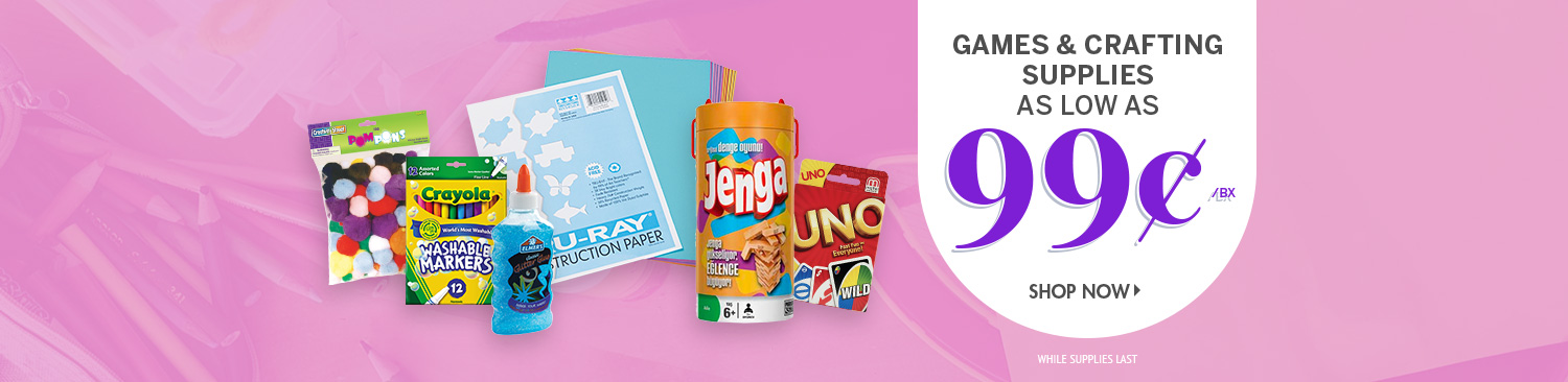 Save on Games & Crafts