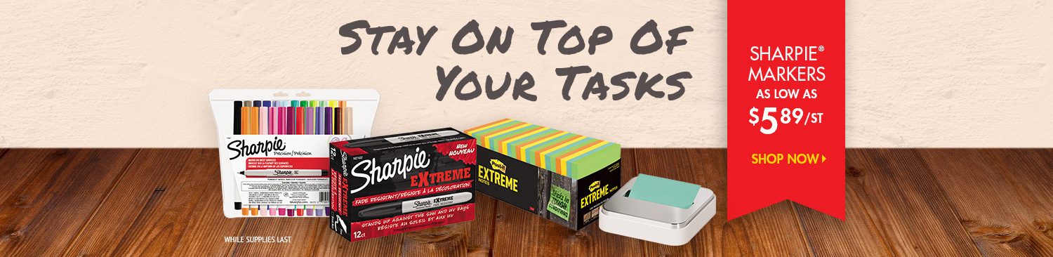 Save on Sharpie and Post-It