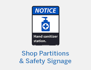 Shop Partitions and Safety Signage