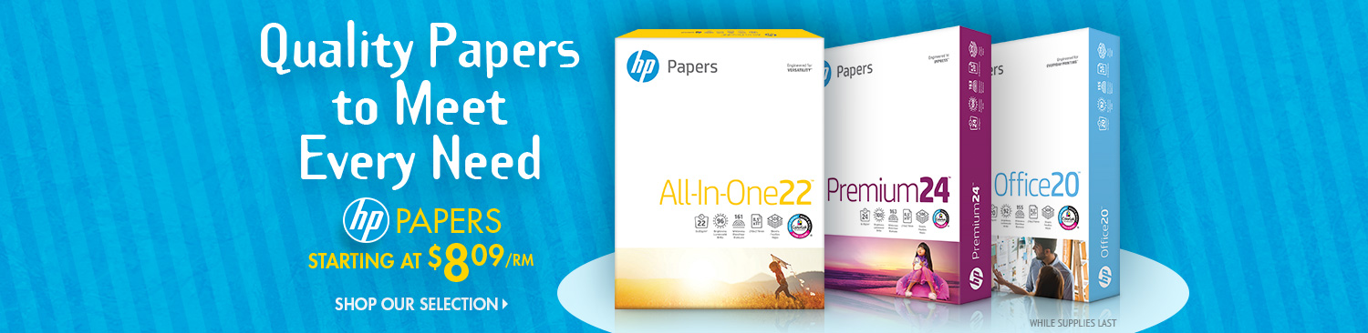 Save on HP Papers