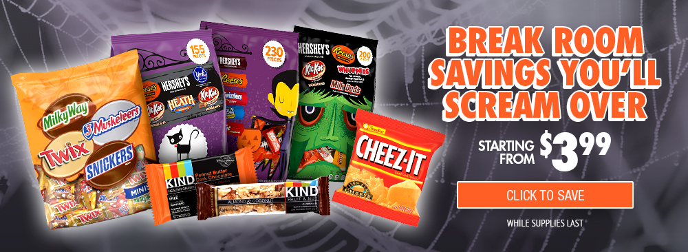 Save on Break Room Snacks & Candy