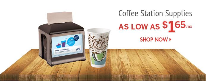 Shop Coffee Station Supplies