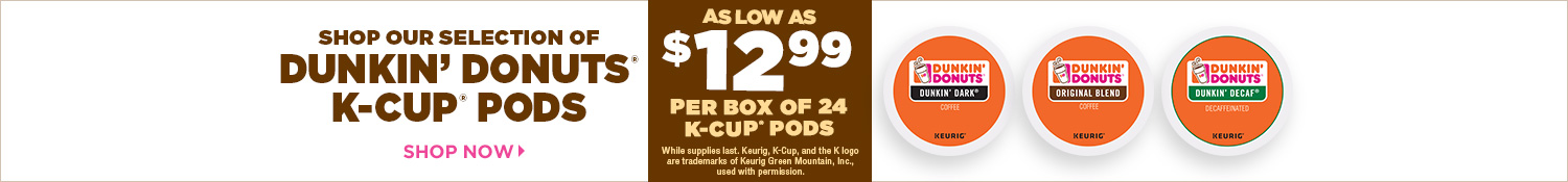 Save on Dunkin' Donuts K-Cup Pods