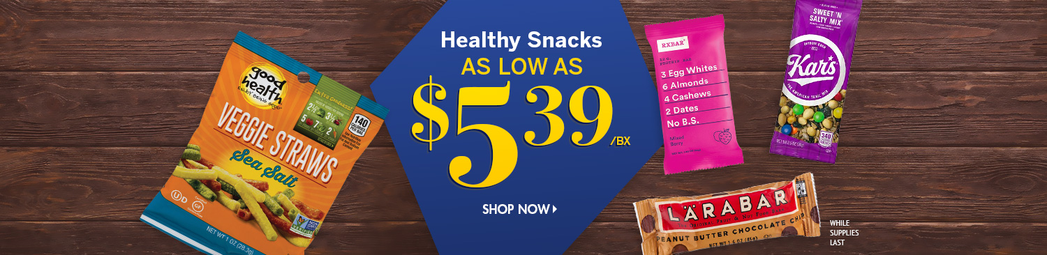 Save on Healthy Snacks