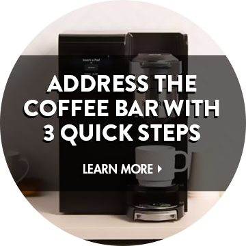 3 Steps to a Sanitary Coffee Bar