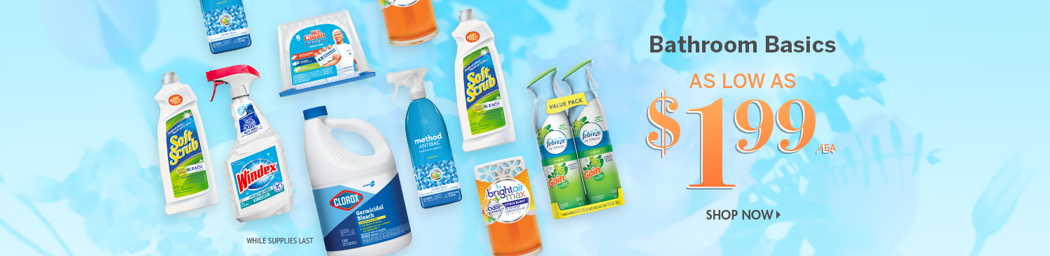Save on Bathroom Cleaning Products