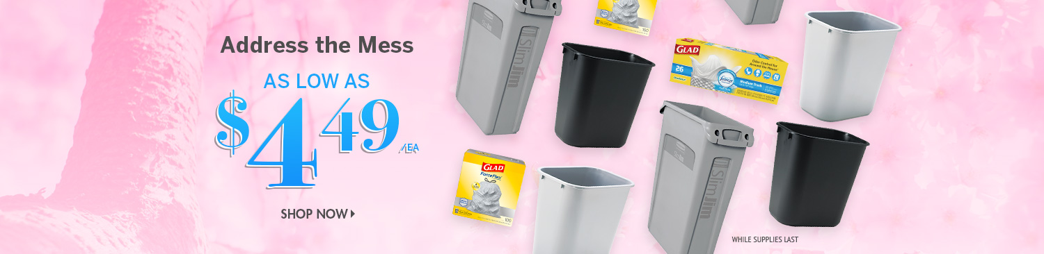 Save on Trash Cans and Liners
