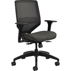 Solve® Mid Back Task Chair, Black
