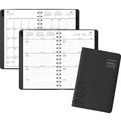 "Contemporary Weekly/Monthly Planner, Block, 4 7/8"" x 8"", Graphite Cover, 2021"