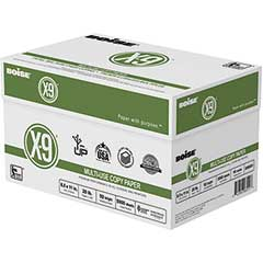 X-9 Multi-Use Copy Paper, 92 Bright, 20lb, 8-1/2 x 11, White, 5000 Sheets/Carton