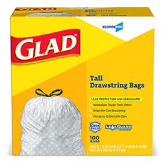 Tall Kitchen Drawstring Trash Bags, 13 Gal., 100/BX