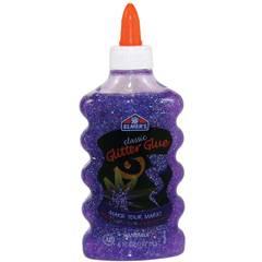 Glitter Glue, 6 oz., Purple
