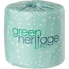 Green Heritage® Bathroom Tissue, Economy, 2-Ply, 500 Sheets/Roll, 96/Carton