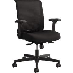 Mesh Mid-Back Task Chair, Synchro Tilt & Seat Glide, Black