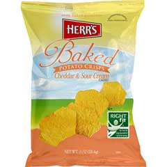 Baked Potato Crisps, Cheddar & Sour Cream, 1 oz., 30/CS