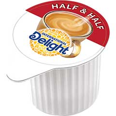 Half & Half Liquid Coffee Creamer, 0.3 oz. Single-Serve Cups, 384/CS