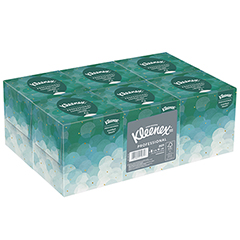 White Facial Tissue, 2-Ply, POP-UP Box, 95/Box, 6 Boxes/Pack