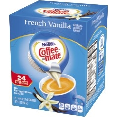Single-Serve Non-Dairy Liquid Coffee Creamer, French Vanilla, 0.375 oz., 24/BX