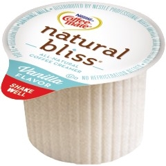 Natural Bliss® Single-Serve Liquid Coffee Creamer, Vanilla, 180/CS