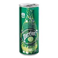 Sparkling Mineral Water, Lime, 8.45 oz. Cans, 10/PK