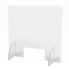 "Counter Top Acrylic Shield, Clear, 36"" x 36"", 10""W x 4""H Opening"