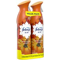 Febreze AIR, Fresh Fall Pumpkin, 8.8 oz., 2/PK