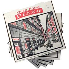 "Pizza Box, Corrugated, 10"", Kraft, 50/CT"