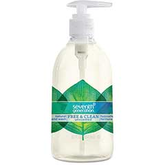 Natural Hand Wash, Free & Clean, Unscented, 12 oz. Pump Bottle