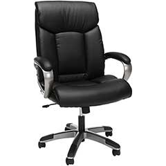 """""""Showstopper"""" High-Back Leather Executive Swivel Chair, Black"""