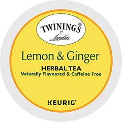 K-Cup® Pods, Tea, Lemon Ginger, 24/BX