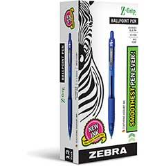 Z-Grip Retractable Ballpoint Pen, Blue Ink, Medium, Dozen