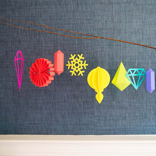 Hanging Paper Ornaments