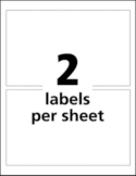2 Labels per sheet