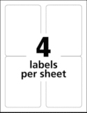 4 Labels per sheet